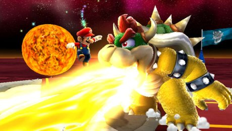 This is actually a screenshot of Super Mario Galaxy 1, by the way